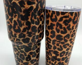 Authentic Yeti Rambler - Lepoard Print - Hydrodipped Yeti - Hydrographics - Coffee Mug - Travel Mug - Insulated Tumbler