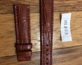 Brown Leather watch band Strap 100% skin 18mm/16mm #VN03