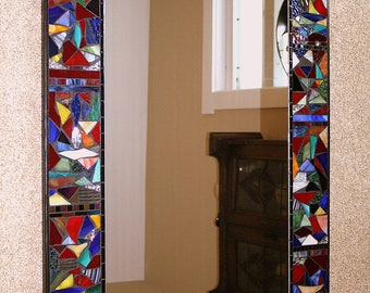 """Customized """"Wild Thing"""" stained glass mosaic mirror"""