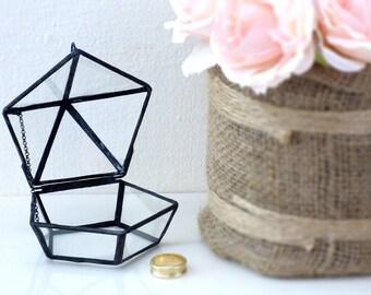 Your Perfect Wedding Ring Box! Shabby Chic Geometric Wedding Ring Box. Use As A Ring Bearer Box, Jewelry Box, Wedding Ring Holder