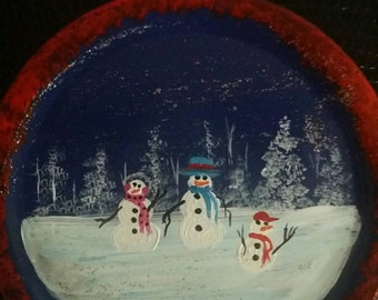 Hand painted wide mouth mason jar lid