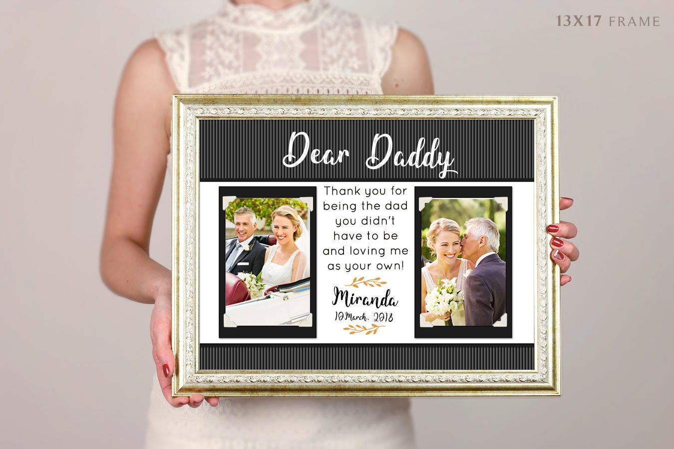 Gift For Father Dad Daddy From Daughter Picture Frame