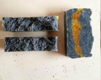 Lavender & Patchouli Activated Charcoal Hot Process Soap