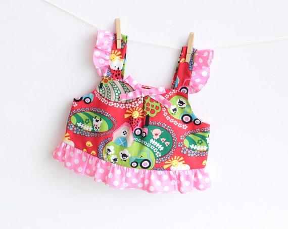 TULIPS Top Baby Girl sewing pattern Pdf children babies