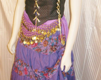 Renaissance Gypsy Costume in Purple