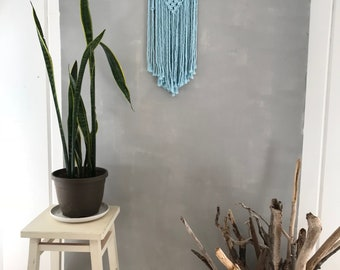 Sounds of Water: Woven Macrame Wall Hanging