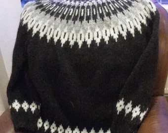 Hand knitted Icelandic wool (lopi) sweater