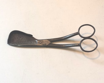 Candle wick steel scissors  - made by Harrisons - 1 x item with surface markings