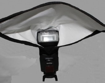 Photography, Rectangular Camera Flash Light Reflector, Photography Accessories, Lighting modifier, Studio or Outdoor, Bounce Diffuse Light