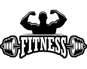 barbell logo etsy rh etsy com weight lifting logos designs weightlifting logs