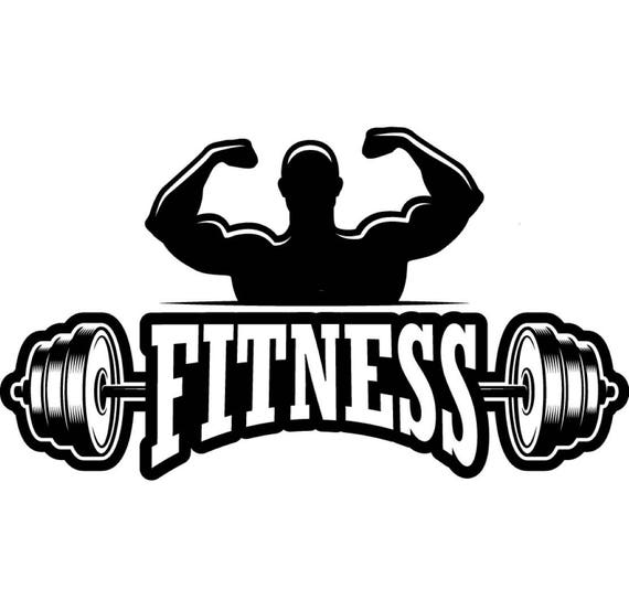 Bodybuilding Logo 3 Bodybuilder Barbell Bar Weightlifting