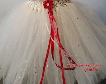 very pretty little white soft tulle skirt/petticoat off.