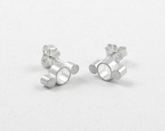 Modern Stud Earrings, Modern Minimalist Jewelry, Sterling Silver Earrings, Dainty Stud Earrings, Simona Studs