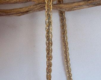 """Vintage 14K Gold Woven Style Bracelet 7.75""""  6 g"""