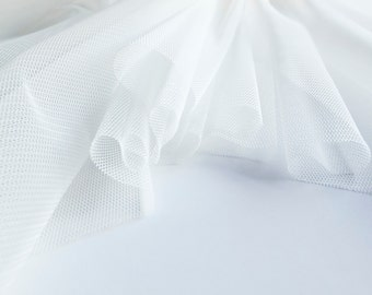 Ivory (Off White) Soft Tulle Veiling Fabric 150cm wide -  Sold by the metre (M4)