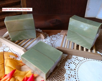 Apple Jack and Peel Soap Bar Green Soap Gold Line Soap