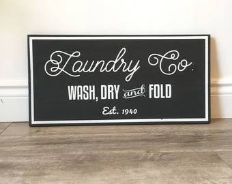 Magnolia Inspired Laundry Sign - Fixer Upper Inspired - Farmhouse Sign