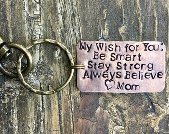 Personalized Key Chain for Son. Wedding Day. Gift from Mom for Groom. Gift from Mom. Got Keys. Cool. Unique Keepsake. Handmade. Moms Love