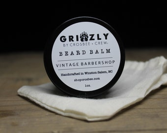 Beard balm Vintage barbershop beard care, all natural beard, dad gift, Gift for men, gift under 10, stocking stuffer, Beard Conditioner