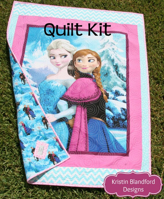 Frozen Quilt Kit Panel Baby Toddler Bedding Disney Fabrics