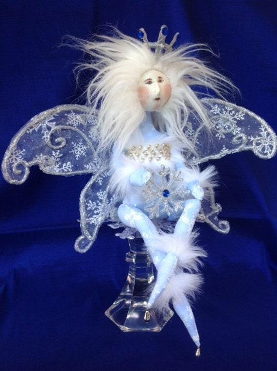 Snowflake Fairy - Cloth Doll E-Pattern Amazingly Beautiful Winter Wonderland Snow Fairy