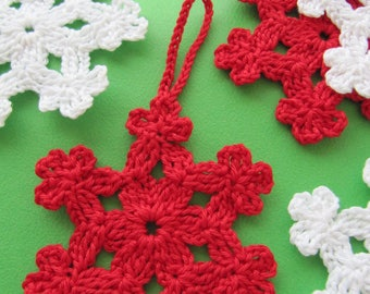 Christmas Crochet PATTERN, Crochet Snowflake Pattern, DIY Crochet, Christmas Ornaments, Instant Download, PDF Pattern #6, Lyubava Crochet