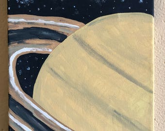 Saturn Planet Canvas Painting