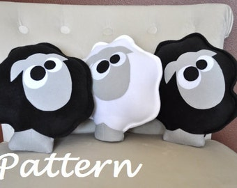 Farm Animal Sheep Pattern PDF -Count the Sheep Plush Pillow PDF Tutorial How to DIY epattern
