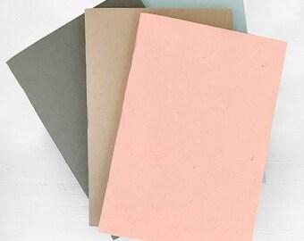 set of 4 mini pocket journals - lined, blank or dot grid