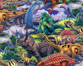 Age of the Dinosaurs - David Textiles - 1 yard - More Available - BTY