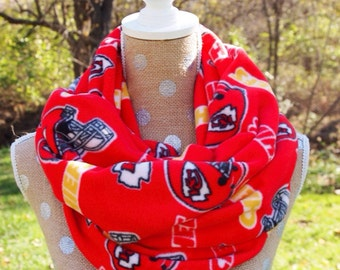 Kansas City Chiefs Fleece NFL Infinity Scarf Adult 70x10 Warm