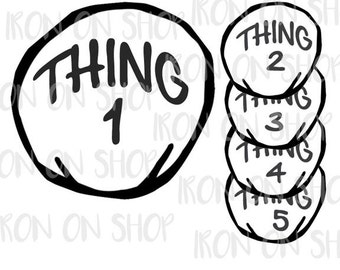 Thing Iron-on Transfer (custom numbering available)