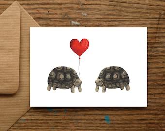 Tortoise Love Card