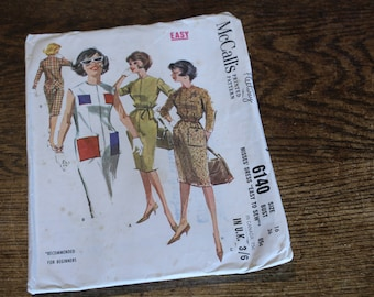 McCalls Vintage style dress pattern Size 16 no 6140 ForBeginners