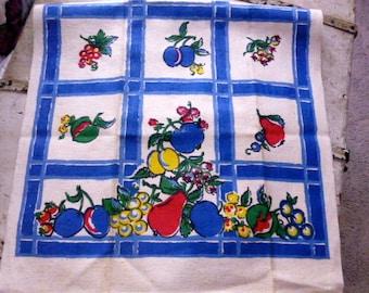 Vintage Startex Tea Towel With Fruit Fruit Designs Unused Condition