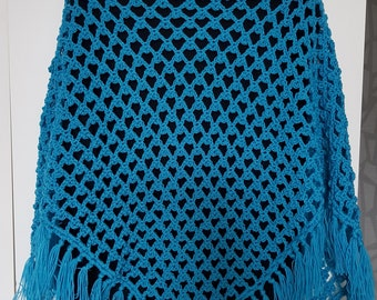 Beautiful soft crochet shawl wrap with or without fringes - made to order