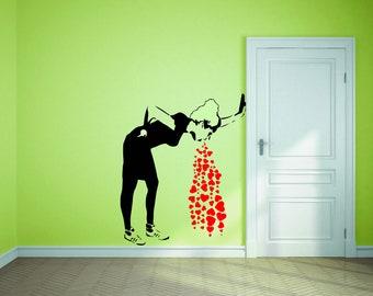 Inspired by Banksy Love Sick Wall Decal Wall Graffiti Art Decor