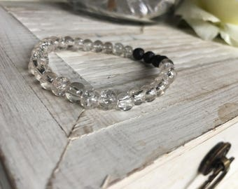 Essential oil diffuser bracelet, aromatherapy, clear
