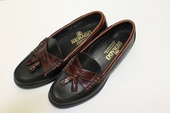 1 Vintage 8 Dockside Loafers Tassel 2 Sebago Size in Leather Woman's Excellent Condition M 0qar8w0