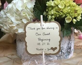 12 wedding cake pop tags