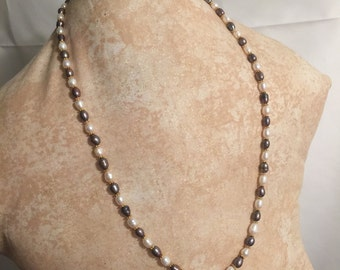 Fresh Water Pearls and Vermilion Necklace