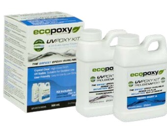 EcoPoxy UVPoxy 500 ML Safest Epoxy Resin for Artists | Green Eco-Friendly | EcoPoxy | Environmentally Safe | Resin Artist Recommended