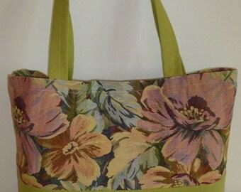 City Anne floral jacquard Tote