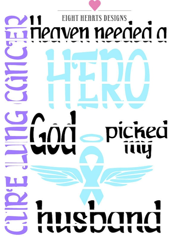 Cure Lung Cancer God Picked My Wife Or Husband Vinyl Svg