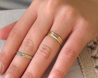Wedding Band for Woman, Half Eternity Diamond Band, Yellow Solid Gold Wedding Ring, Unique Wedding Band, Gift for Her