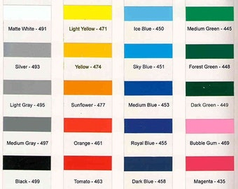 Outdoor Adhesive Vinyl  3mil   (20 colors to choose from)