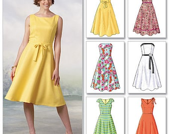 Butterick Sewing Pattern B4443 Misses'/Misses' Petite Flared Dresses