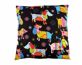 Wiener dogs pillow cover 16x16 dachshund gift