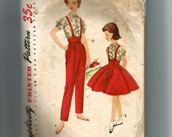 Simplicity Girls' Blouse, Skirt and Pants Pattern 1743