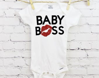 Baby Boss Baby Onesie - Customize It - Baby Gift Idea - Baby Bodysuit